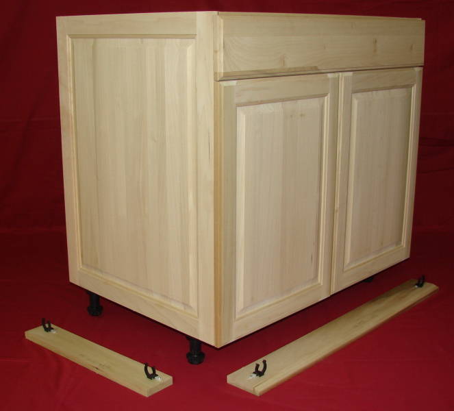 Base Cabinet With Removable Toe Kicks