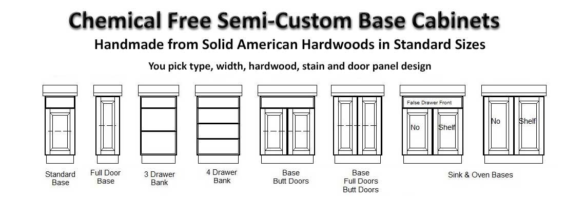 Chemical Free Semi-Custom Base Cabinets